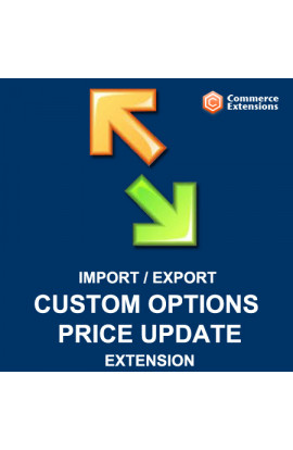 Bulk Custom Options Price Update Import + Export