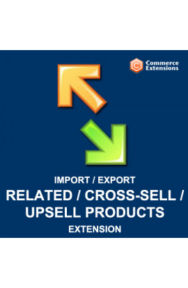 Import + Export Product Related Products Cross-sells and Upsells