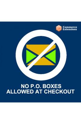 No P.O Boxes Allowed at Checkout
