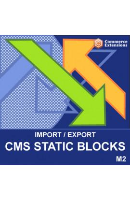 Magento 2 Bulk Import + Export Bulk CMS Static Blocks (CSV/XML)