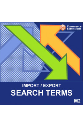 Magento 2 Import + Export Search Terms (CSV)
