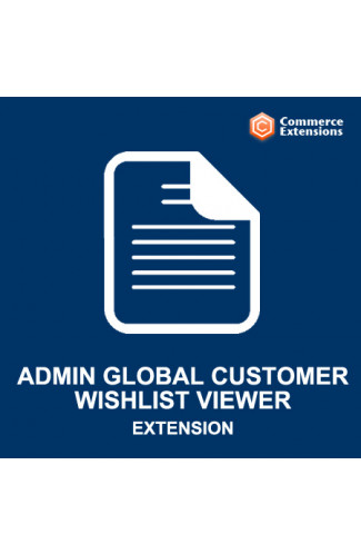 Magento Admin Global Customer Wishlist Viewer