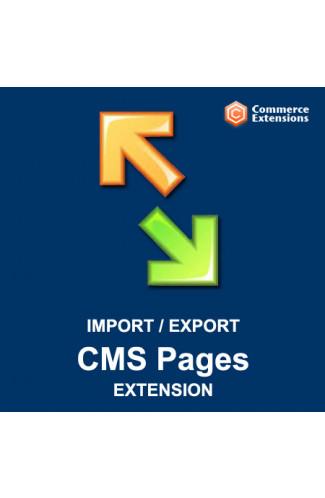 Bulk Import + Export Bulk CMS Pages (CSV/XML)