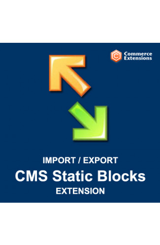 Bulk Import + Export Bulk CMS Static Blocks (CSV/XML)