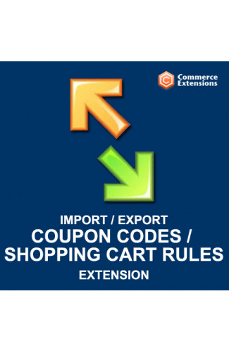 Import + Export Coupon Codes + Shopping Cart Price Rules