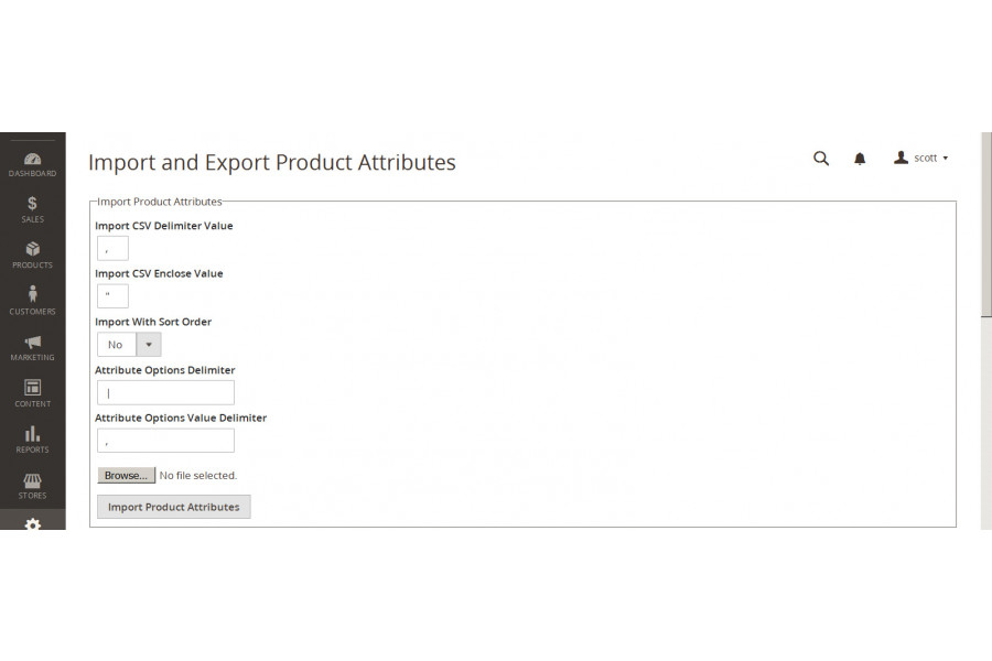 Magento 2 Import/Export Product Attributes Commerce Extension