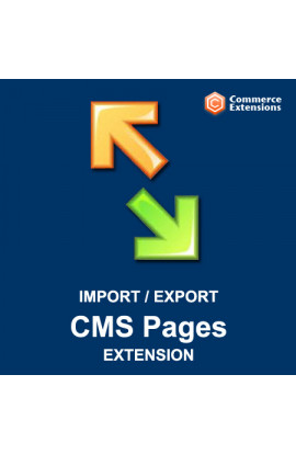 Import + Export Bulk CMS Pages (CSV/XML)
