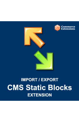 Import + Export Bulk CMS Static Blocks (CSV/XML)