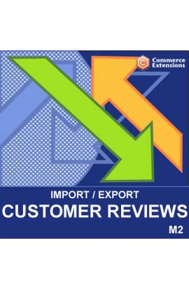 Magento 2 Import + Export Bulk Customer Reviews (CSV)