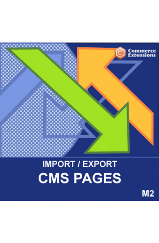 Magento 2 Import + Export Bulk CMS Pages (CSV)