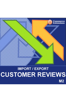 Magento 2 Import + Export Bulk Customer Reviews (CSV)