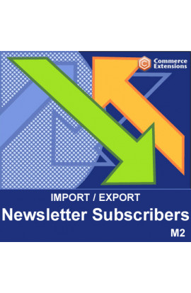 Magento 2 Import + Export Newsletter Subscribers (CSV)