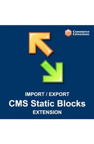Import + Export Bulk CMS Static Blocks (CSV/XML)